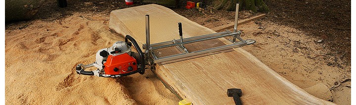"A large 36"" beech milled with a Stihl 090av chainsaw at Boom Town festival 2013"